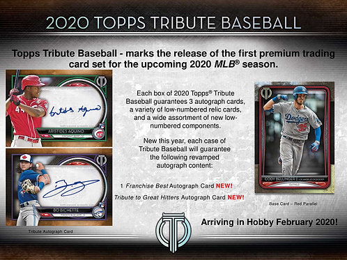 2020 Topps Tribute 1 Box Break #1-Random Pack