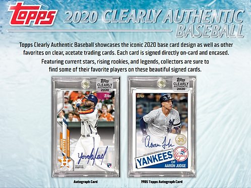 2020 Topps Clearly Authentic 10 Box 1/2 Case Break #1-RT