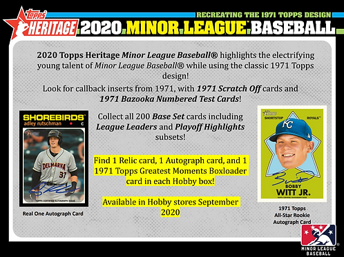 2020 Topps Heritage Minor League 4 Box Break #2-PYT