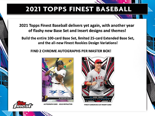 2021 Topps Finest 2 Box Break #2-Tiered Random Teams