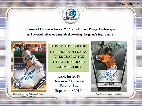 2019 Bowman Chrome HTA 1 Box Break #5-PYT