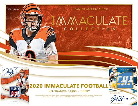 2020 Panini Immaculate Football 1 Box Break #1-PYT