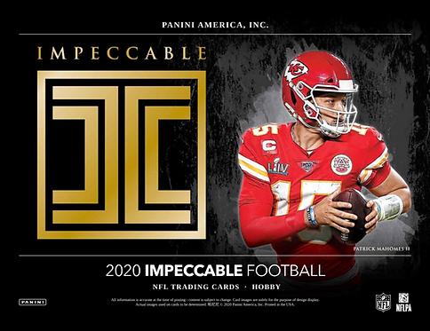 2020 Panini Impeccable Football 1 Box Break #1-PYT