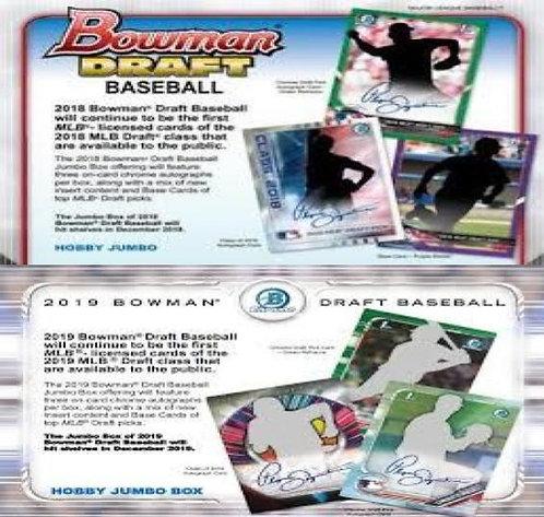 Dual MLB Box #1 - 2018 Bowman Draft Jumbo & 2019 Bowman Draft Jumbo - RT