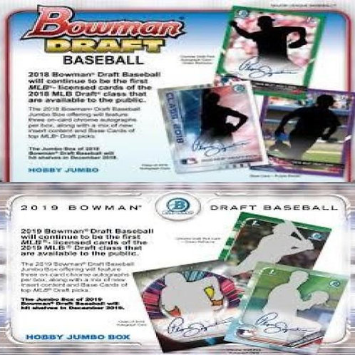 Dual MLB Box #1 - 2018 Bowman Draft Jumbo & 2019 Bowman Draft Jumbo - RT