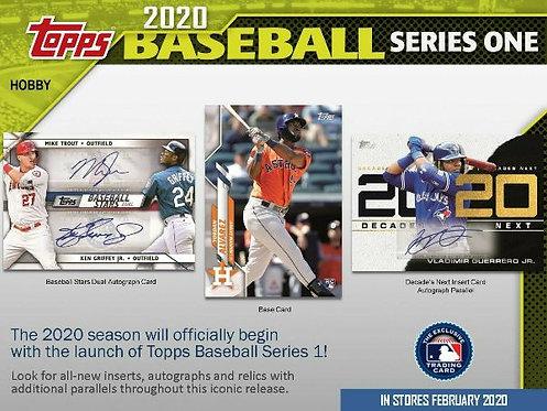 2020 Topps Series 1 Jumbo 1 Box Break #2-Random Divisions
