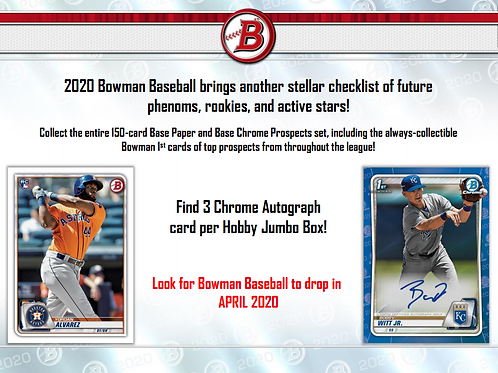 2020 Bowman Baseball Jumbo HTA 1 Box Break #14-Random Divisions