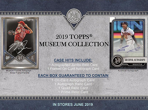 2019 Topps Museum Collection 1 Box Break #1-PYT