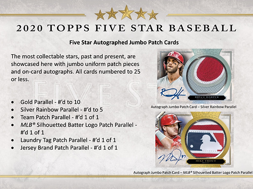 2020 Topps Five Star 1 Box Break #1-PYT