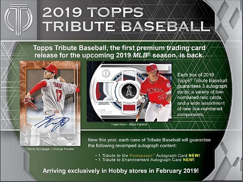 2019 Topps Tribute 2 Box Break #1-PYT