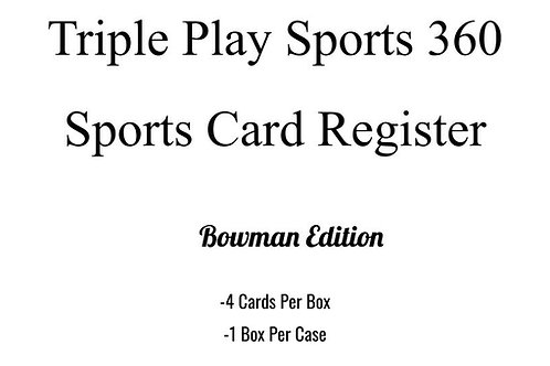 The TPS360 Sports Card Register Bowman Edition Case #1-RT