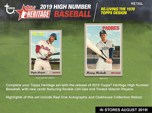 2019 Topps Heritage High Number 1 Box Break #2-Random Stack