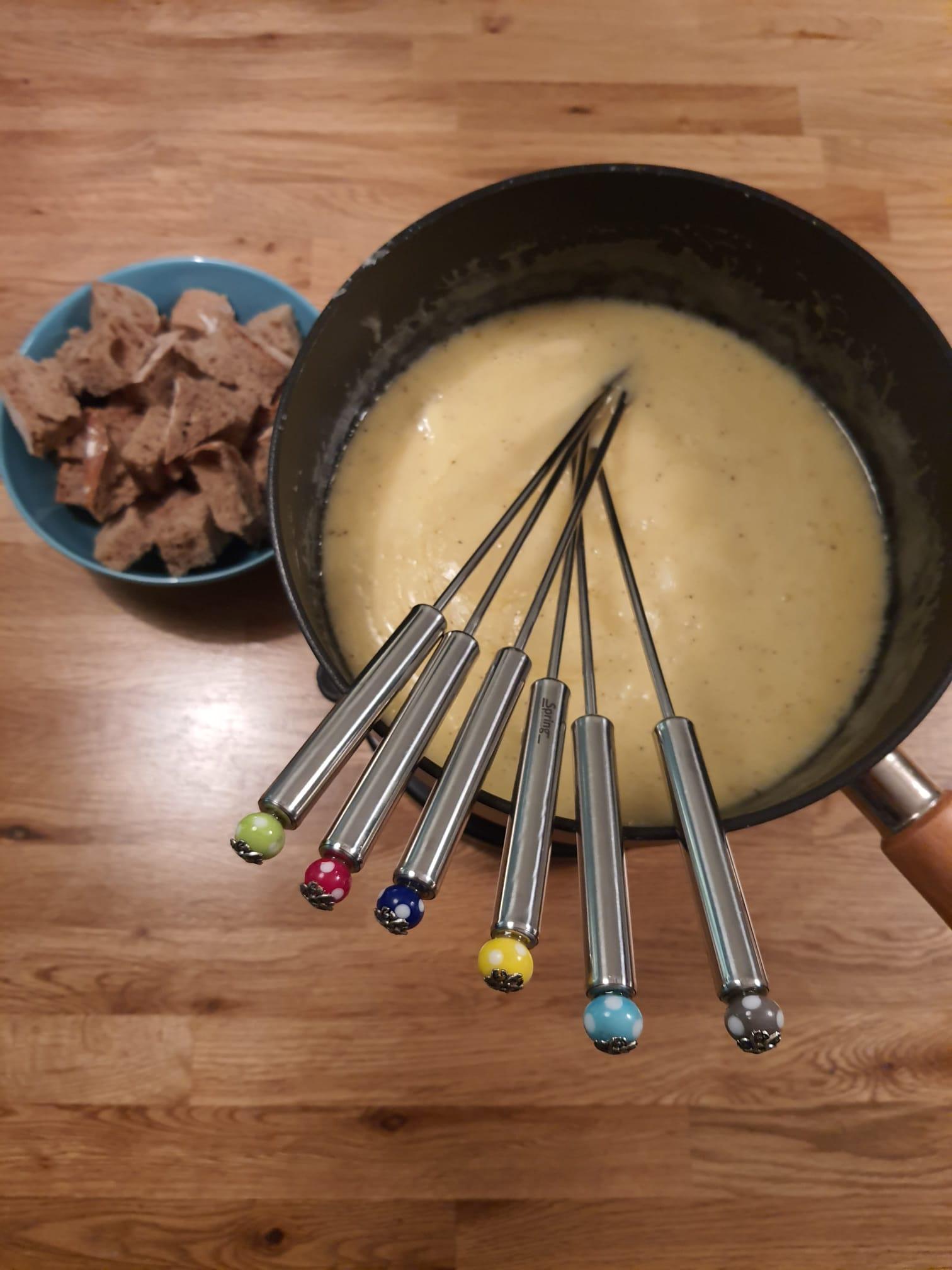 Käse & Fleisch Fonduegabeln aus Edelstahl mit je 6 Glasperlen