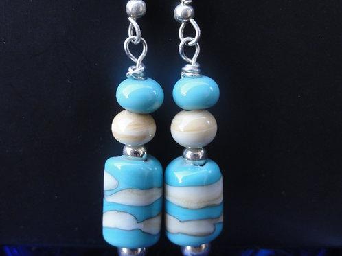 Ohrenringe mit 2 Perlen 613