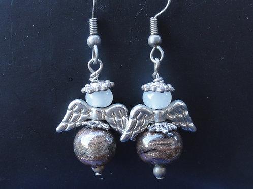 Ohrenringe mit 2 Perlen 609