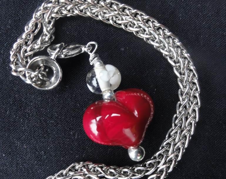 Anhänger Herz für Taschen und Schlüs