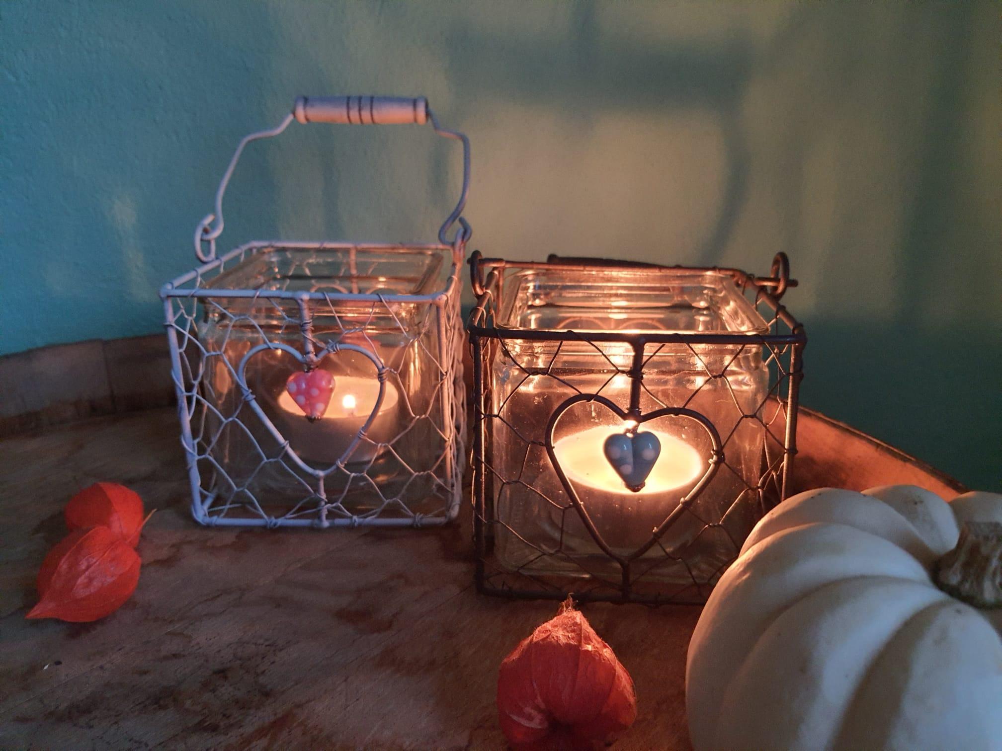 Windliechtli & Laternen mit 2 Glasperlen