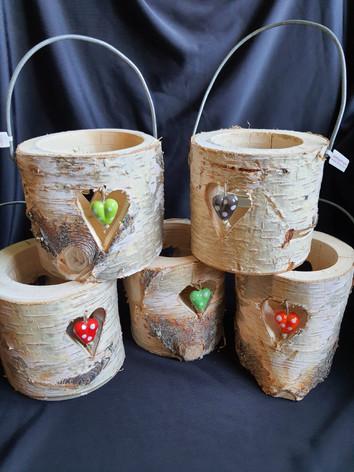 Birkenholzlaternen aus Gersau mit 2 Glasperlen   CHF   36.00
