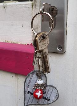 Schlüssel & Taschenanhänger mit Glasperlen