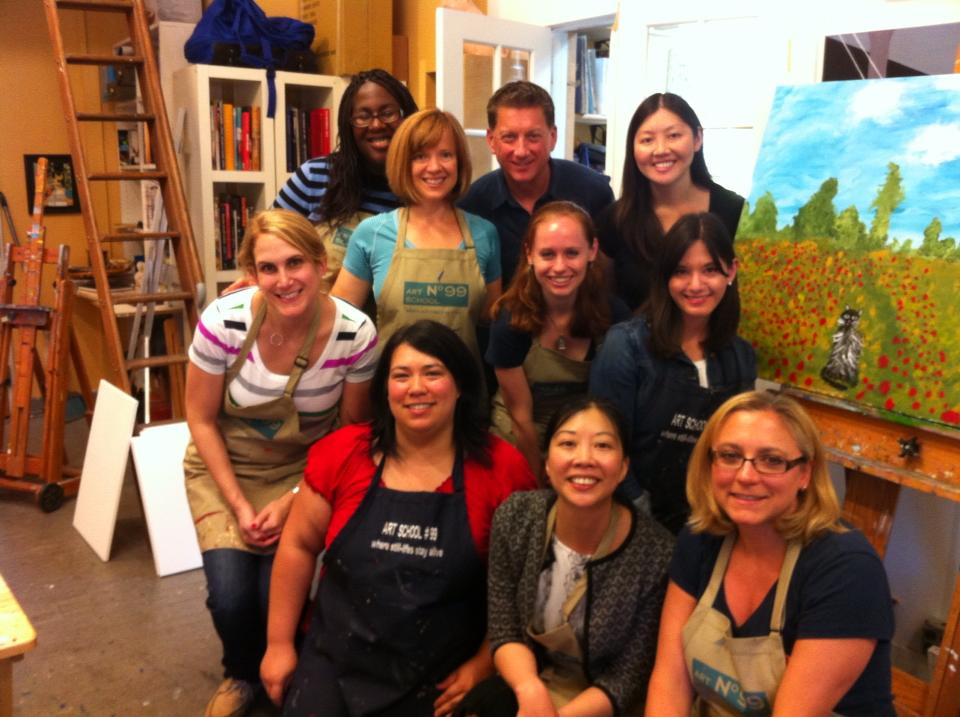 Birthdayparty with one big painting