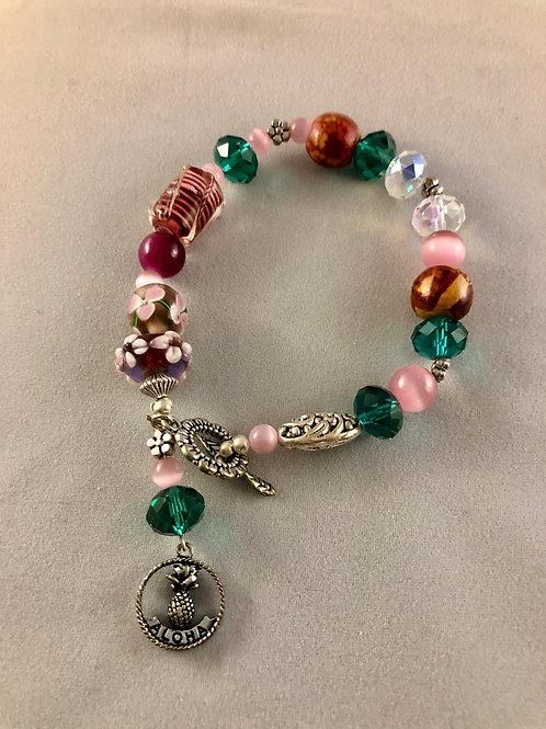 Green Aloha Bracelet