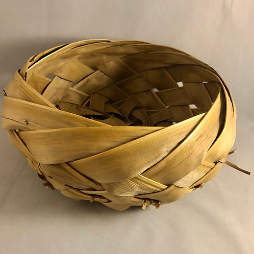 Coconut frond basket