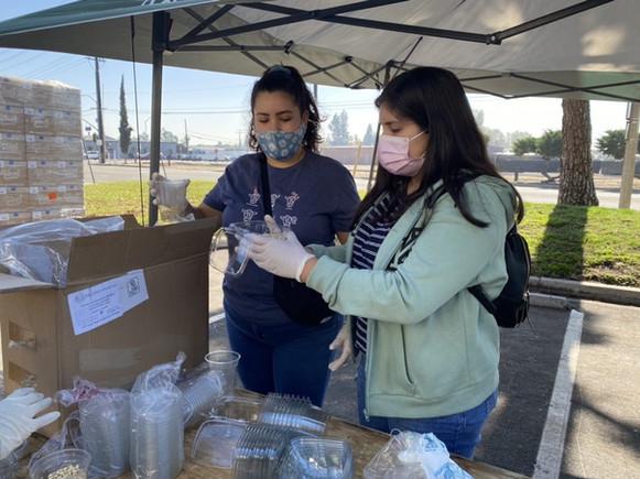 Team Members serving at Isaiah's Rock Food Pantry