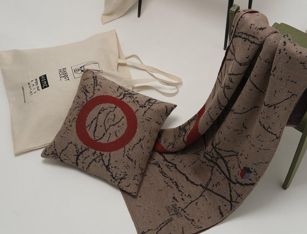 Декоративная подушка мрамор