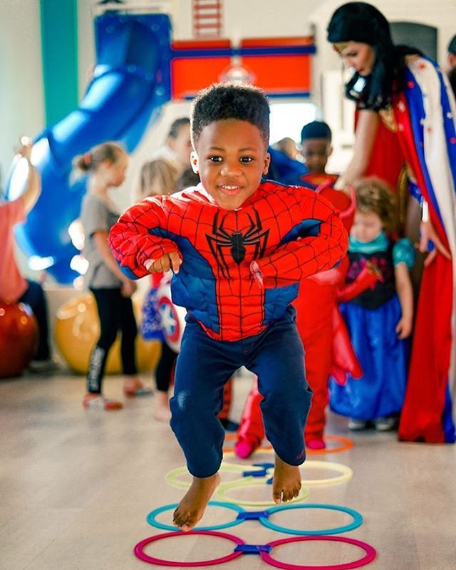 Our superheroes love training our young