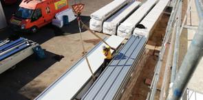 panels being prepared