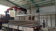 placing the pre-fab flooring slabs