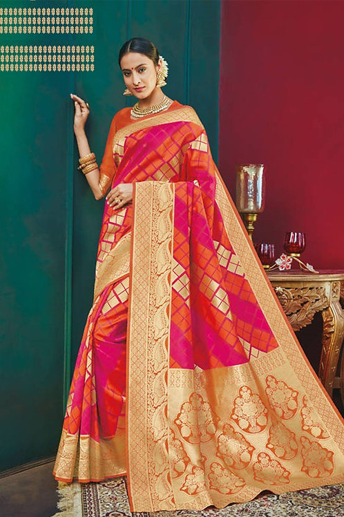 Basic Indian Premium Silk Saree (Muticolor)