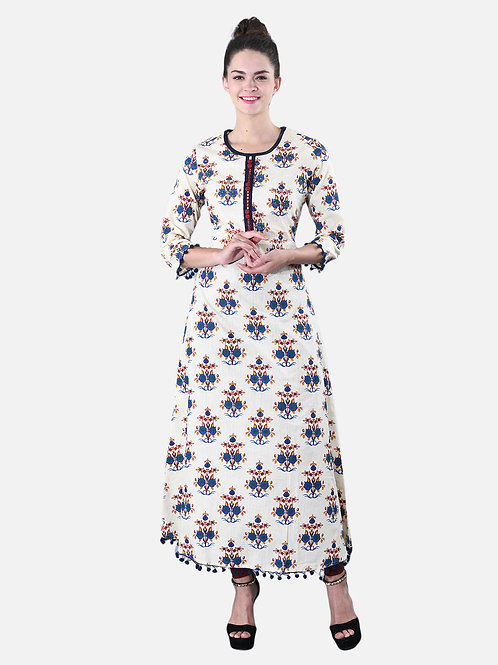 Basic Indian Designer A-Line Kurta