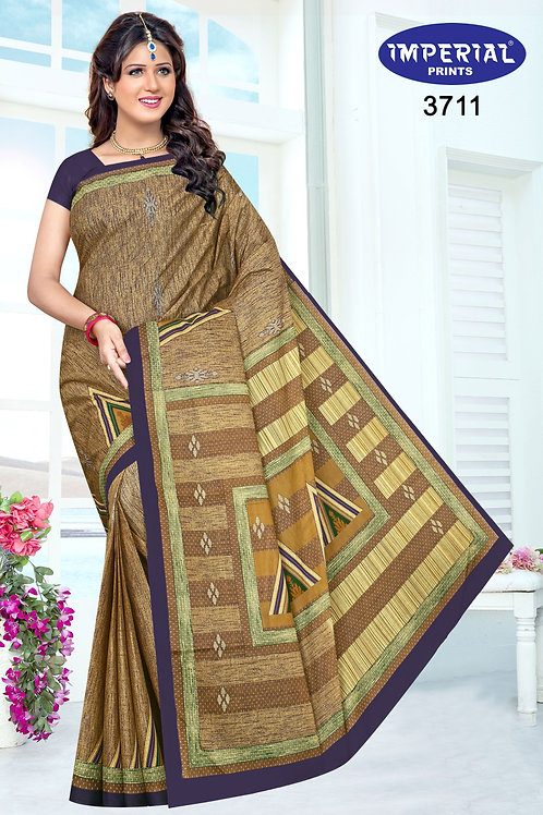 Basic Indian Linen Cotton Saree-2