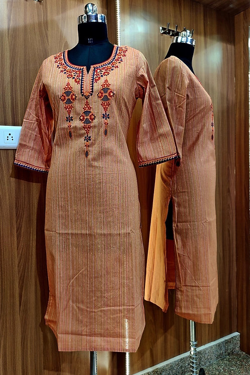 Basic Indian Cotton Kurti (Culture-Orange)