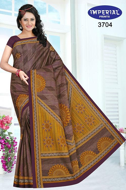 Basic Indian Linen Cotton Saree-3