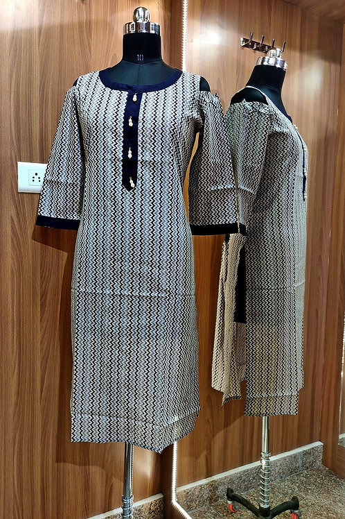 Basic Indian Cotton Kurti (pattern)