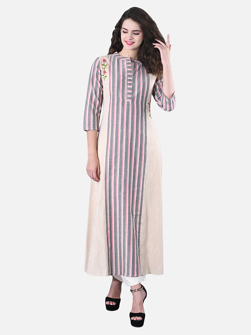 Basic Indian Long embroided Printed long Kurti