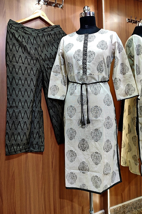 Basic Indian Cotton pant set (Shaolin-Pattern)