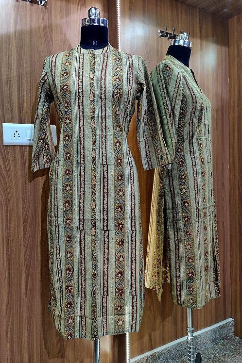 Basic Indian Cotton Kurti (Lateral-Print)