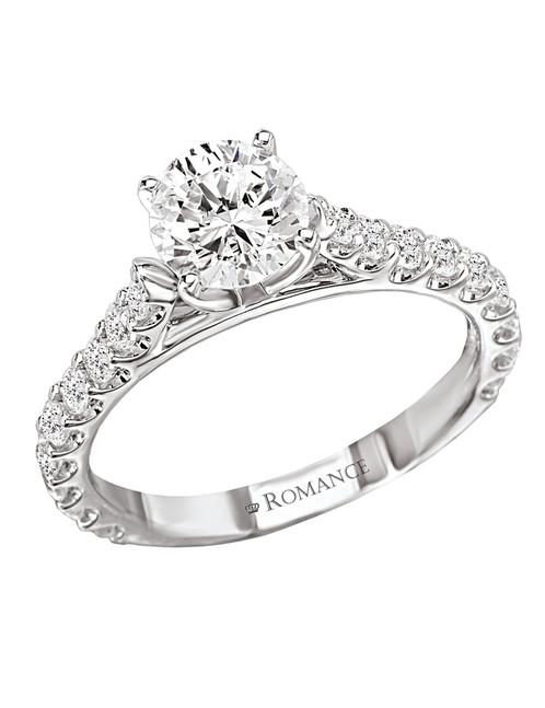 Romance Cathedral Style Semi Mount Diamond Ring 18kt