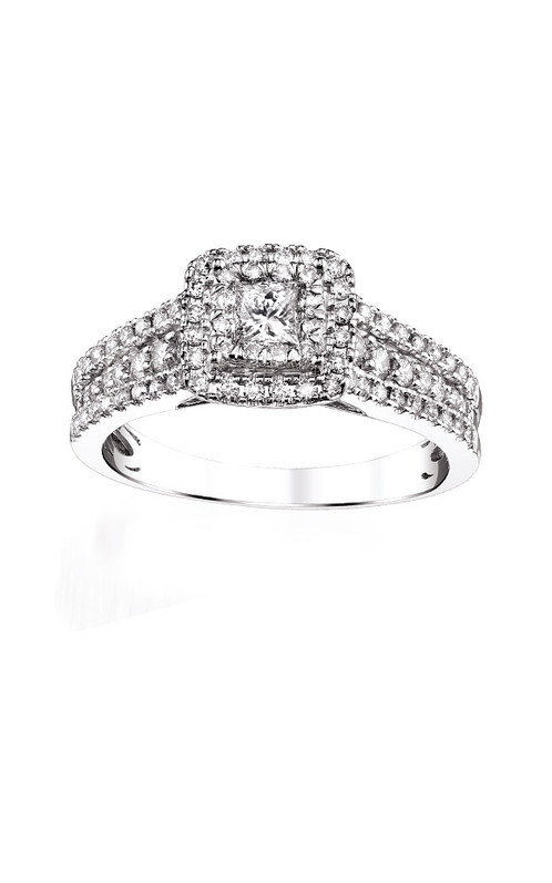 diamond engagement center ring round baguette bold sylvie tapered bridal rings side