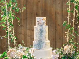 From Sketch to Cake: Blue Geode