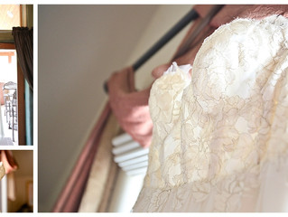 Wedding Wednesday: Gown Inspired Gilded Lace Cake