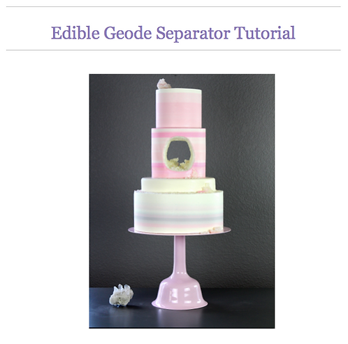 Edible Geode Separator Photo Tutorial