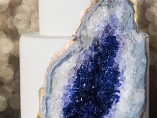 Amethyst Geode Wedding Cake