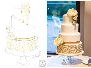 From Sketch to Cake: Golden Florals