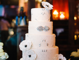Wedding Wednesday: Embroidered Gown Inspired Wedding Cake