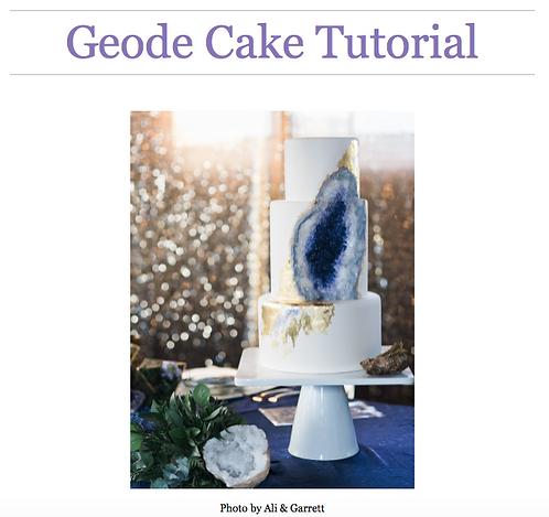 Geode Cake Photo Tutorial