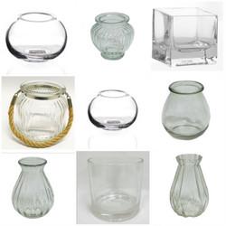 Glass planter options